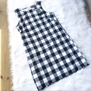 Adrianna Papell Black, White Plaid Checked Dress